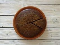 Torta de café Fotografía de archivo libre de regalías