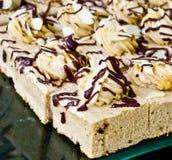 Torta de café cremosa Fotos de archivo