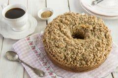 Torta de café del canela foto de archivo libre de regalías