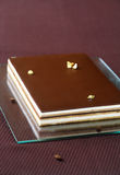 Torta de café del chocolate del ` de la ópera del ` Foto de archivo libre de regalías