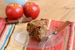 Torta de café del cinamomo de Apple Imágenes de archivo libres de regalías