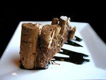 Torta de café deliciosa del chocolate Imagenes de archivo