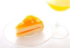 Torta de capa anaranjada Fotos de archivo libres de regalías