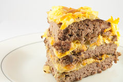 Torta de carne Imagem de Stock Royalty Free