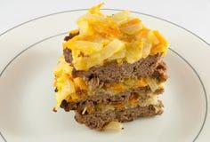 Torta de carne Foto de Stock Royalty Free