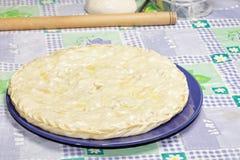 Torta de carne fechada na placa Imagens de Stock