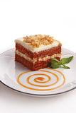 Torta de Carrrot Imagen de archivo libre de regalías