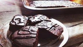 Torta de Chockolated Fotografía de archivo libre de regalías