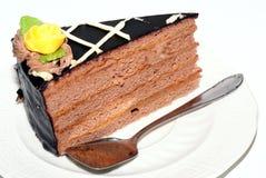 Torta de chocolate. Fotos de archivo