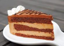 Torta de chocolate fotografía de archivo