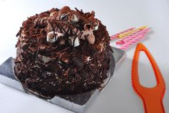 Torta de chocolate Foto de archivo libre de regalías