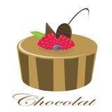 Torta de chocolate Stock de ilustración