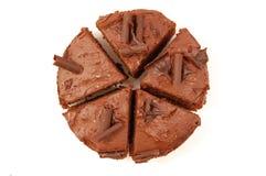 Torta de chocolate Foto de archivo
