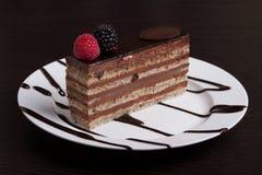 Torta de chocolate acodada Fotos de archivo libres de regalías