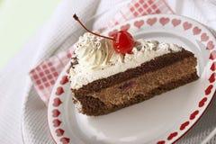 Torta de chocolate apetitosa Fotos de archivo libres de regalías