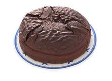 Torta de chocolate (camino de recortes) Foto de archivo