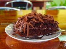 Torta de chocolate casera Fotos de archivo libres de regalías