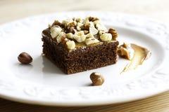 Torta de chocolate con caramelo Imagen de archivo