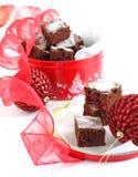 Torta de chocolate con el arándano Fotos de archivo libres de regalías