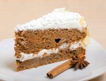 Torta de chocolate con el postre de cinnamon.sweet Imágenes de archivo libres de regalías