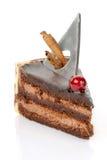 Torta de chocolate con las decoraciones Foto de archivo libre de regalías