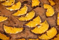Torta de chocolate con las naranjas Imagen de archivo libre de regalías