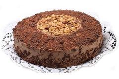 Torta de chocolate con las tuercas Imágenes de archivo libres de regalías