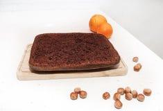 Torta de chocolate de la avellana Fotos de archivo