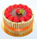 Torta de chocolate de la fresa Imagen de archivo