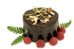 Torta de chocolate de la Navidad Foto de archivo