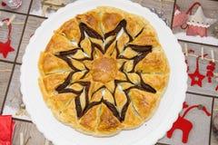 Torta de chocolate de la Navidad fotos de archivo libres de regalías