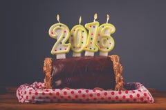 Torta de chocolate de la Navidad y del Año Nuevo Fotos de archivo libres de regalías