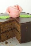 Torta de chocolate de Sacher Imagen de archivo