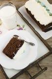 Torta de chocolate del brownie del amaranto Imagen de archivo libre de regalías