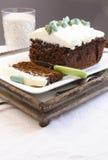 Torta de chocolate del brownie del amaranto Fotografía de archivo libre de regalías