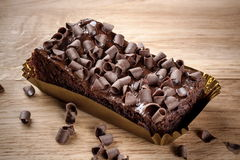 Torta de chocolate del calabacín Imagen de archivo libre de regalías