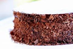 Torta de chocolate del cumpleaños Foto de archivo