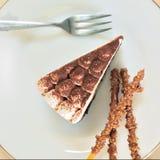 Torta de chocolate del plátano Imagen de archivo