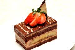 Torta de chocolate del plátano foto de archivo libre de regalías
