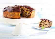 Torta de chocolate del plátano Imágenes de archivo libres de regalías