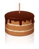 Torta de chocolate del vector Fotografía de archivo libre de regalías