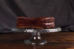 Torta de chocolate deliciosa de Sacher Fotos de archivo
