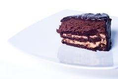 Torta de chocolate dulce Fotografía de archivo libre de regalías