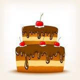 Torta de chocolate dulce Fotografía de archivo