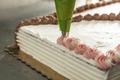 Torta de chocolate dulce Imagenes de archivo