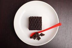 Torta de chocolate en el vector Imágenes de archivo libres de regalías