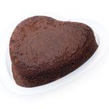 Torta de chocolate en forma de corazón Foto de archivo