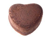 Torta de chocolate en forma de corazón Imágenes de archivo libres de regalías