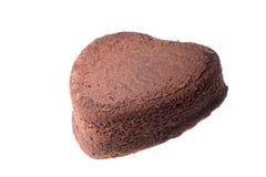 Torta de chocolate en forma de corazón Imagenes de archivo