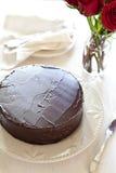 Torta de chocolate hecha en casa fotografía de archivo